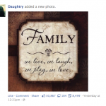 Daughtery Featured on Facebook 1-30-2014