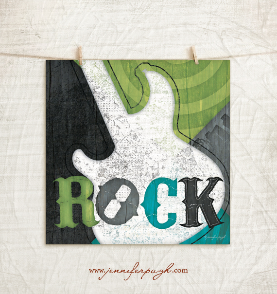Rock Giclee Art Print by Jennifer Pugh.