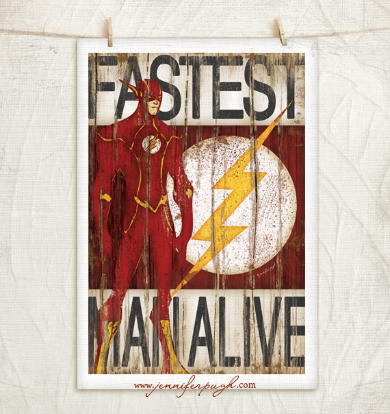 Flash Art Print by Jennifer Pugh Studios.