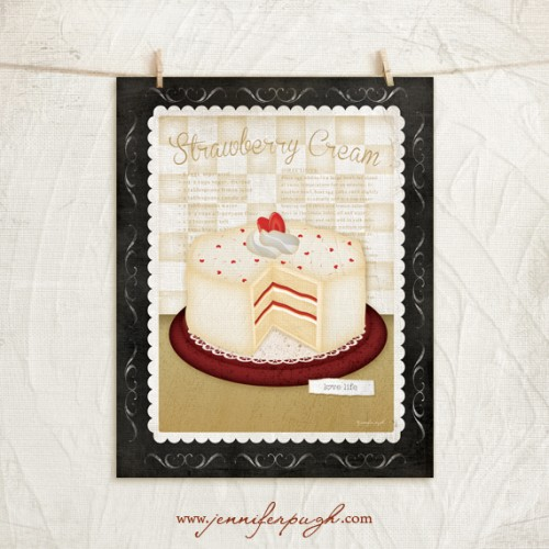 Kitchen Cuisine Dessert II Art Print by Jennifer Pugh.