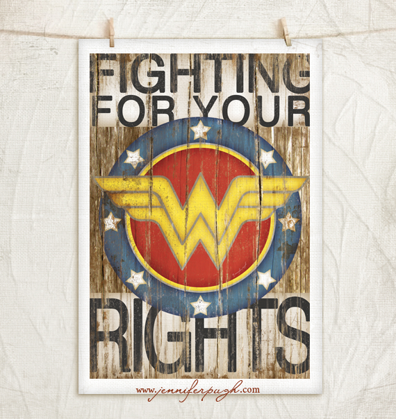 Wonder Woman Art Print by Jennifer Pugh.