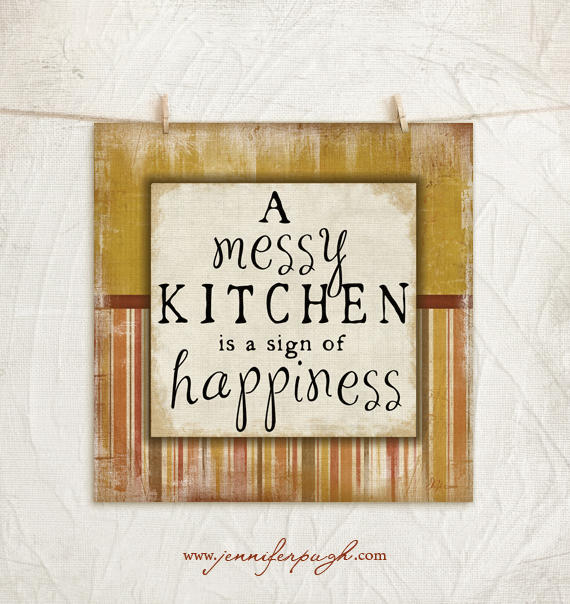 Messy Kitchen Trend: Messy Kitchen 12×12 Art Print