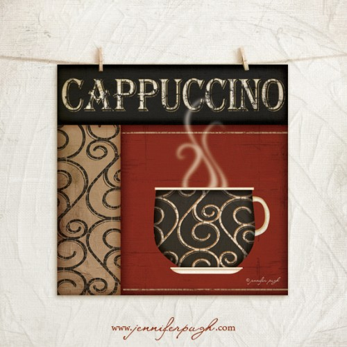 Cappuccino Art Print by Jennifer Pugh.