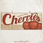 Cherries 8x18 Giclee Art Print