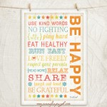 Be Happy 12x18 A