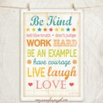 Be Kind 12x18 A