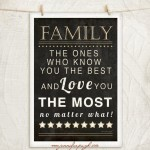 Family Loves You the Most 12x18 A