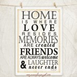 Home is where Love Resides 12x18 A