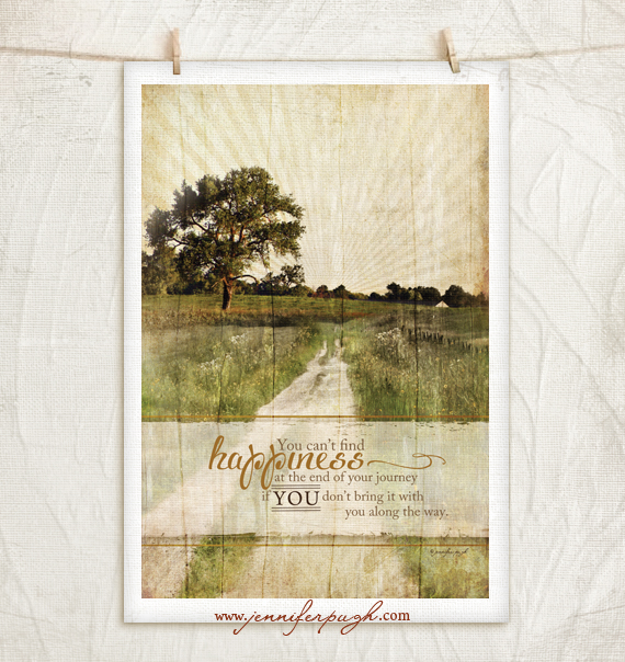 Bring Happiness 12x18 Art Print by Jennifer Pugh Studios
