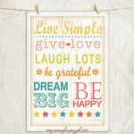 Live Simple 12x18 A