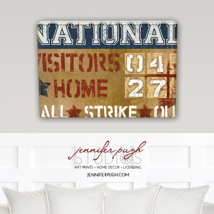 National Scoreboard Canvas Art Print by Jennifer Pugh.