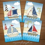 Nautical Voyage Set of 4