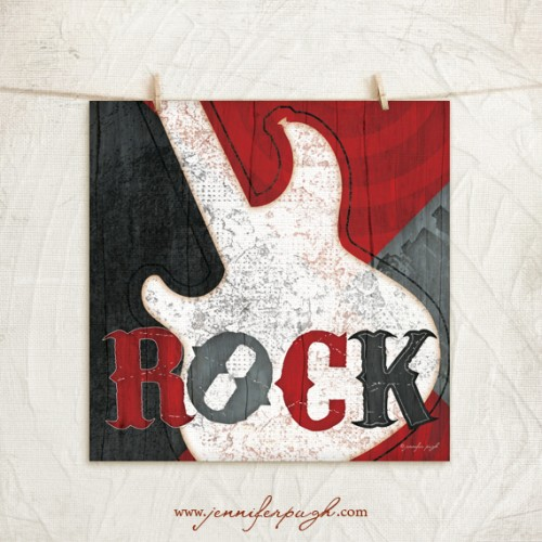 Rock Star giclee art print by Jennifer Pugh Studios.