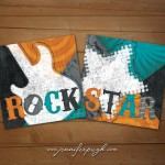 Rock Star Blue Orange Set of 2