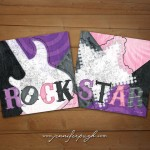 Rock Star Purple Pink Set of 2