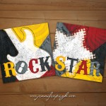 Rock Star Red Yellow Set of 2