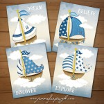 Sailors Dream Set of 4