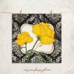 Damask Yellow Floral_002_A
