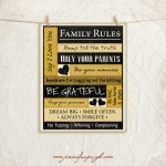 Family Rules 8x10-A