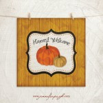 Harvest Welcome art print by Jennifer Pugh Studios.