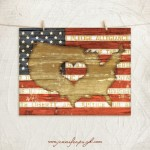 Heart of America giclee art print by Jennifer Pugh.