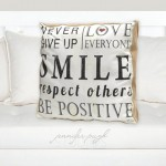 Never Give Up Inspirational Pillow 20x20