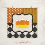 Whimsical Candy Corn art print by Jennifer Pugh Studios.