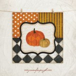 Whimsical Pumpkins giclee art print by Jennifer Pugh Studios