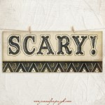 Scary giclee art print by Jennifer Pugh Studios.