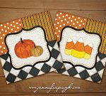 Whimsical Candy Pumpkin Set of 2