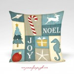Coastal_Christmas_Collage_001_Pillow_by_Jennifer_Pugh