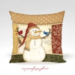 Country Snowman_12x12_002_Pillow_by_Jennifer_Pugh