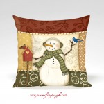 Country Snowman_12x12_003_Pillow_by_Jennifer_Pugh