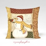 Country Snowman_12x12_004_Pillow_by_Jennifer_Pugh