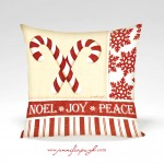 JP2826_Candy Cane_Noel Joy Peace_12x12_Pillow_by_Jennifer_Pugh