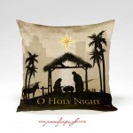 Nativity Pillow-O Holy Night includes beautiful artwork by Jennifer Pugh.