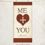 Me + You 8x18 giclee fine art print by Jennifer Pugh.