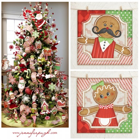 gingerbread man prints