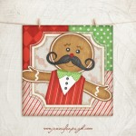 Gingerbread Man 1 Giclee Art Print by Jennifer Pugh.