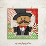 Gingerbread Man 2 Giclee Art Print by Jennifer Pugh.