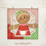 Gingerbread Man 3 Giclee Art Print by Jennifer Pugh.