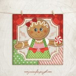 Gingerbread Man_004 giclee art print by Jennifer Pugh.