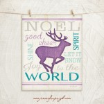Reindeer Blue Art Print Only