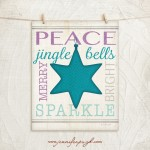 Christmas Star Blue 11x14 Giclee Art Print