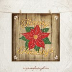 Happy Holidays Giclee Art Print by Jennfer Pugh.