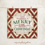 Have Yourself a Merry Little Christmas Giclee Art Print by Jennifer Pugh.
