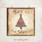 Joy to the World Giclee Art Print by Jennifer Pugh.