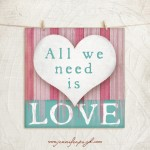 All We Need is Love Giclee Art Print by Jennifer Pugh