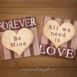 All We Need is Love Giclee Art Prints set of 2 6x6