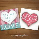 All we need is love pink and blue giclee fine art prints